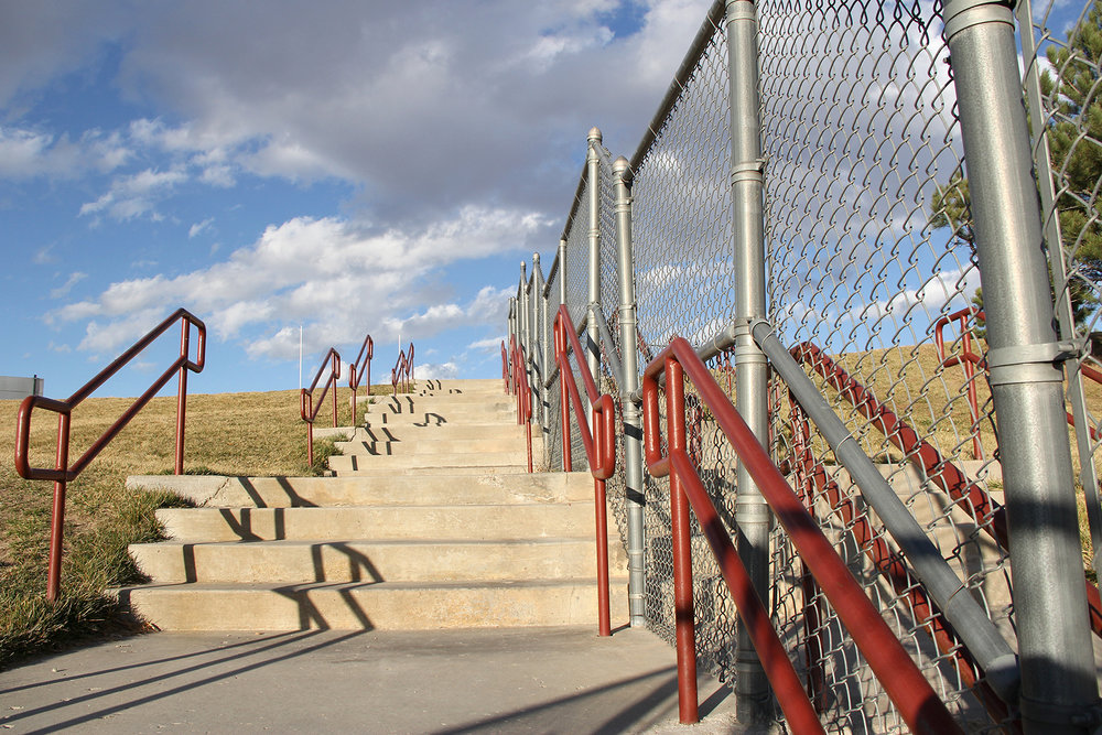 Custom Chain Link with Handrail Colorado Springs