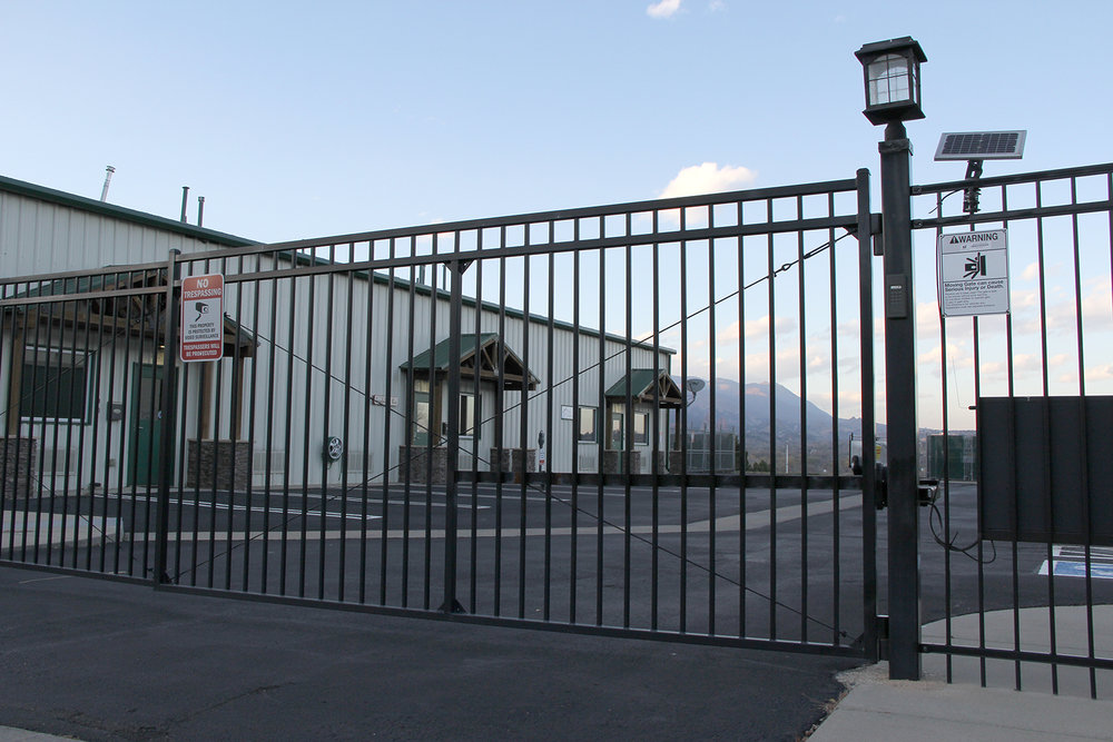 Automatic Gate with Ornamental Iron