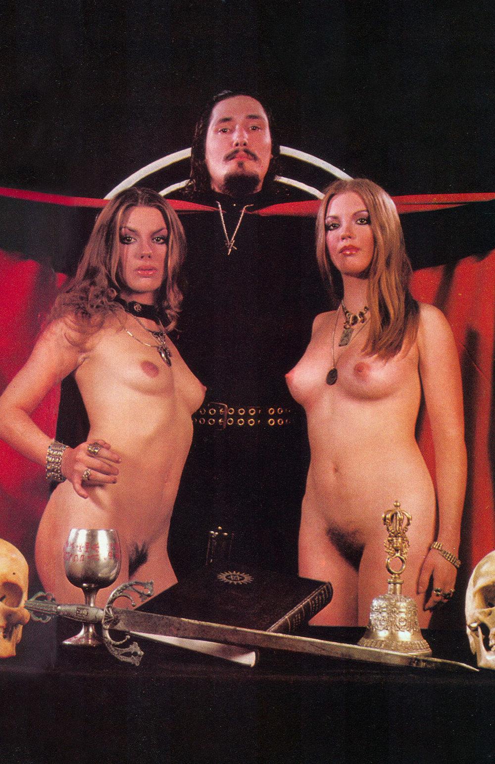 Anton Lavey of the Churchof Satan in Cheri magazine,1978.
