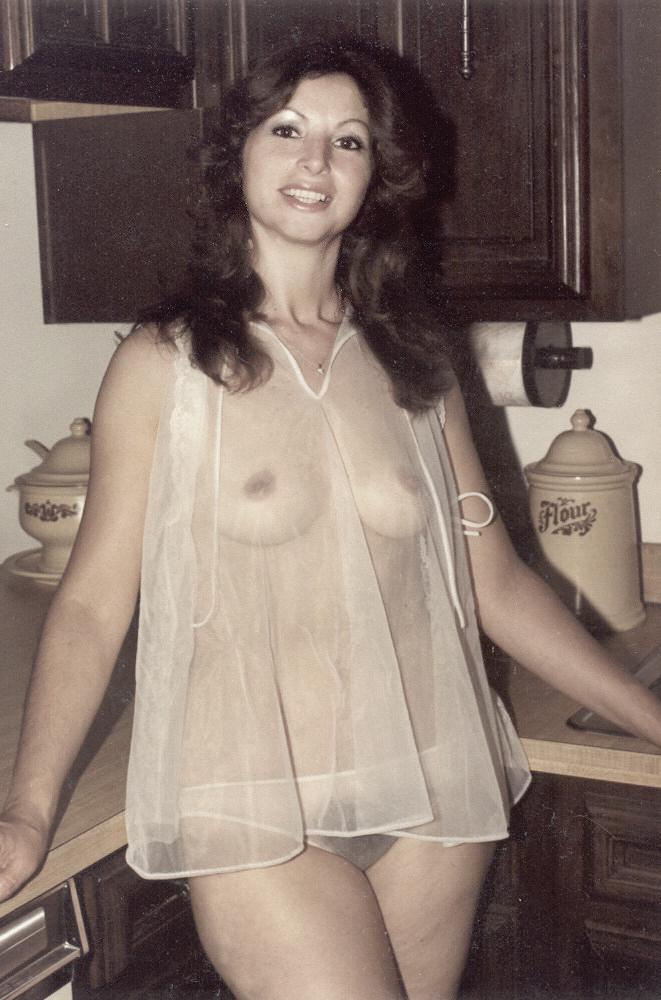Amateur Model In the Kitchen wearing sheer Negligee.jpg