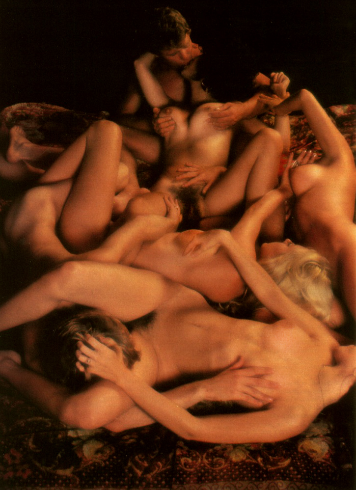 Hope Olson Laura Lyons Patti McGuire Playboy Magazine House Party December 1977 06.jpg