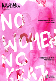 Leaflet promoting No Women No Kraj show in Amsterdam