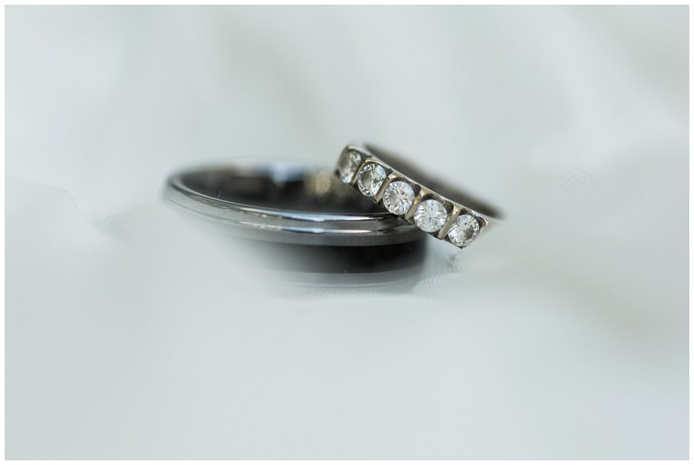 Wedding bands for a fall elopement in Virginia
