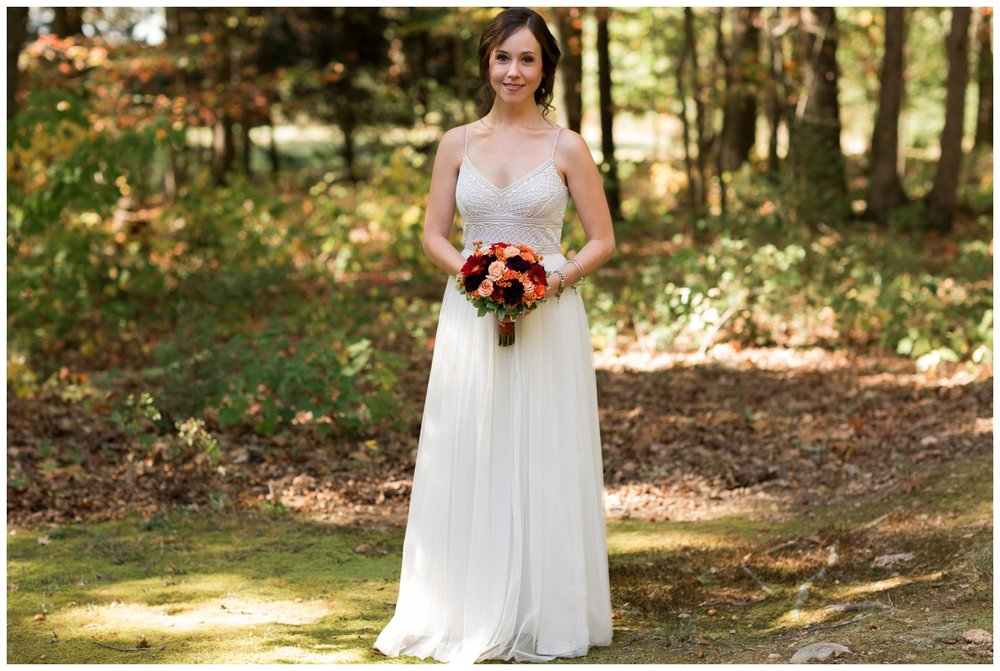 Bridal portrait during a fall elopement in Virginia