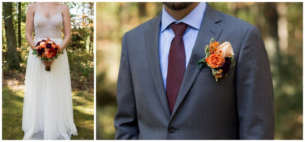 Bride and groom details during a fall elopement in Virginia
