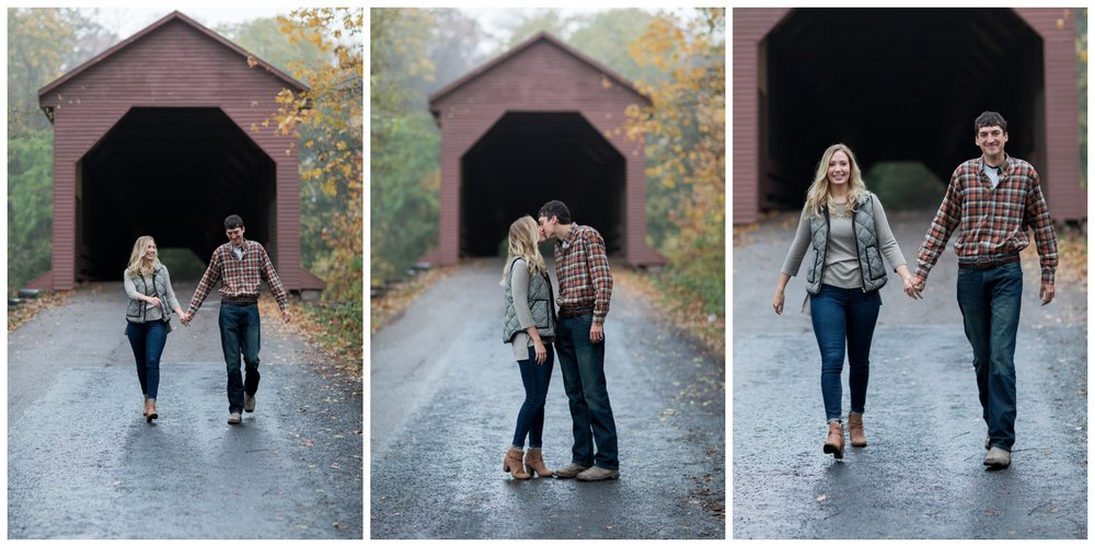Meems Bottom Covered Bridge Engagement Session in New Market, VA