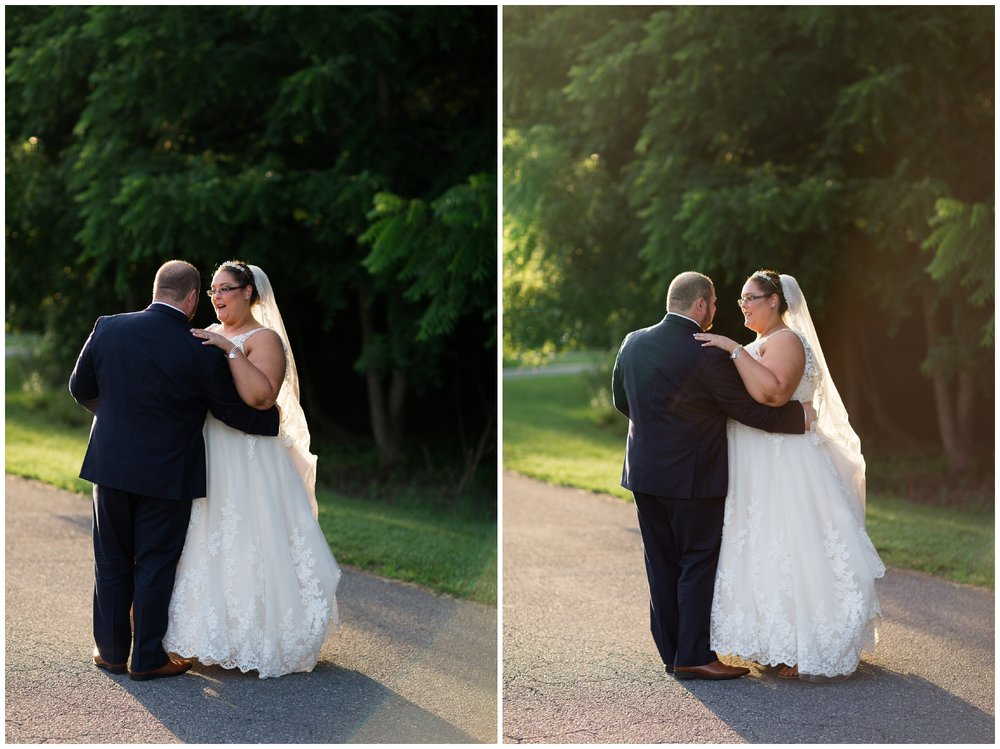 A beautiful navy and peach summer wedding at Quiet Waters Park in Annapolis, MD.