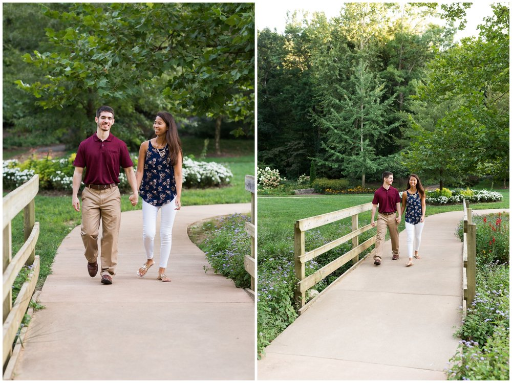 JMU arboretum summer engagement session during late August 2018