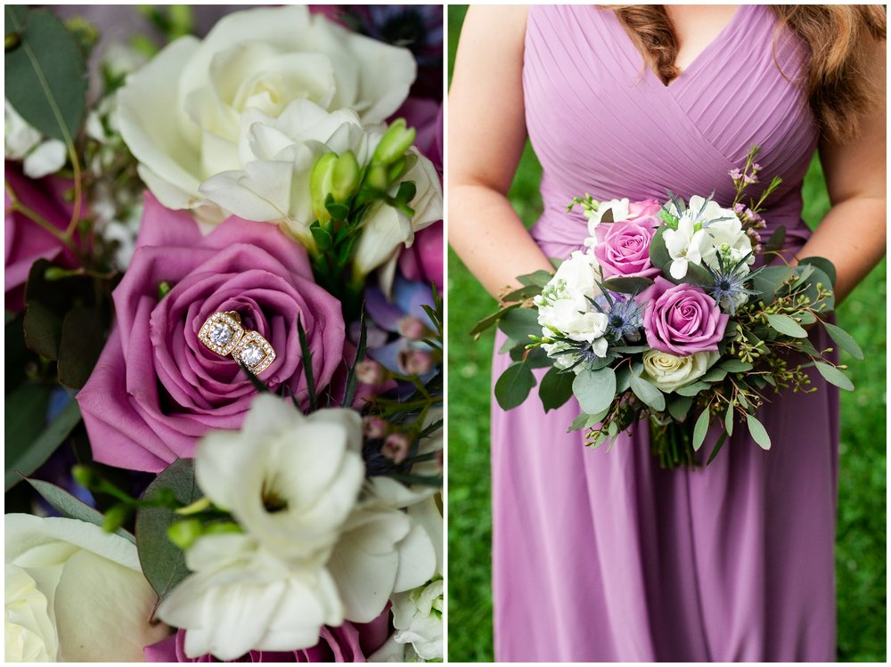 Floral inspiration for Virginia mountain and valley weddings featuring red, pink, white, purple and blue flowers.