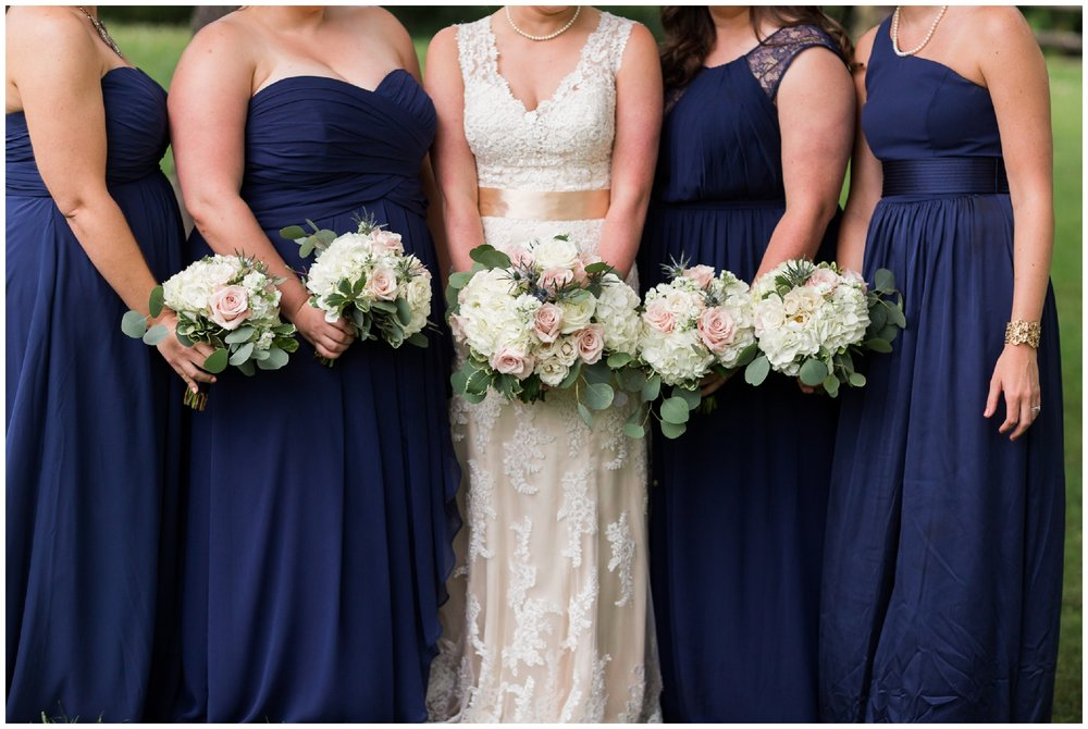 Floral inspiration for Central Virginia weddings in the mountains and valleys featuring red, pink, white, purple and blue flowers.