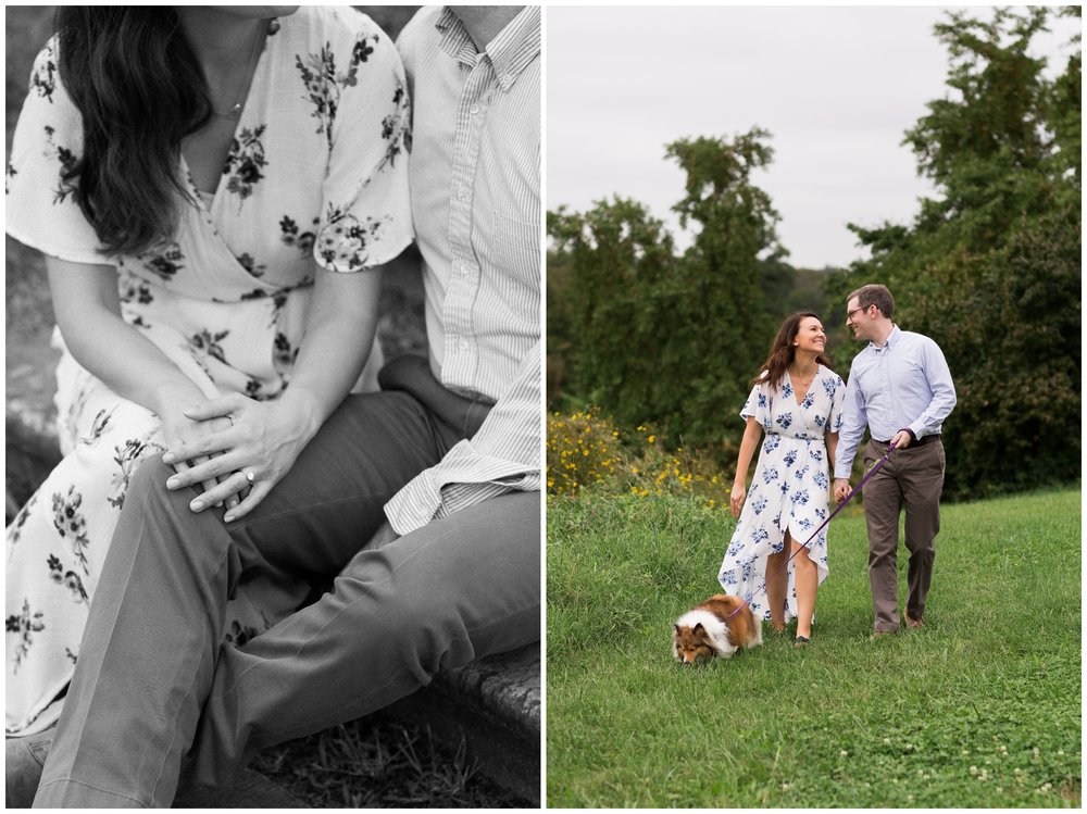 Washington DC fall engagement session at the National Arboretum