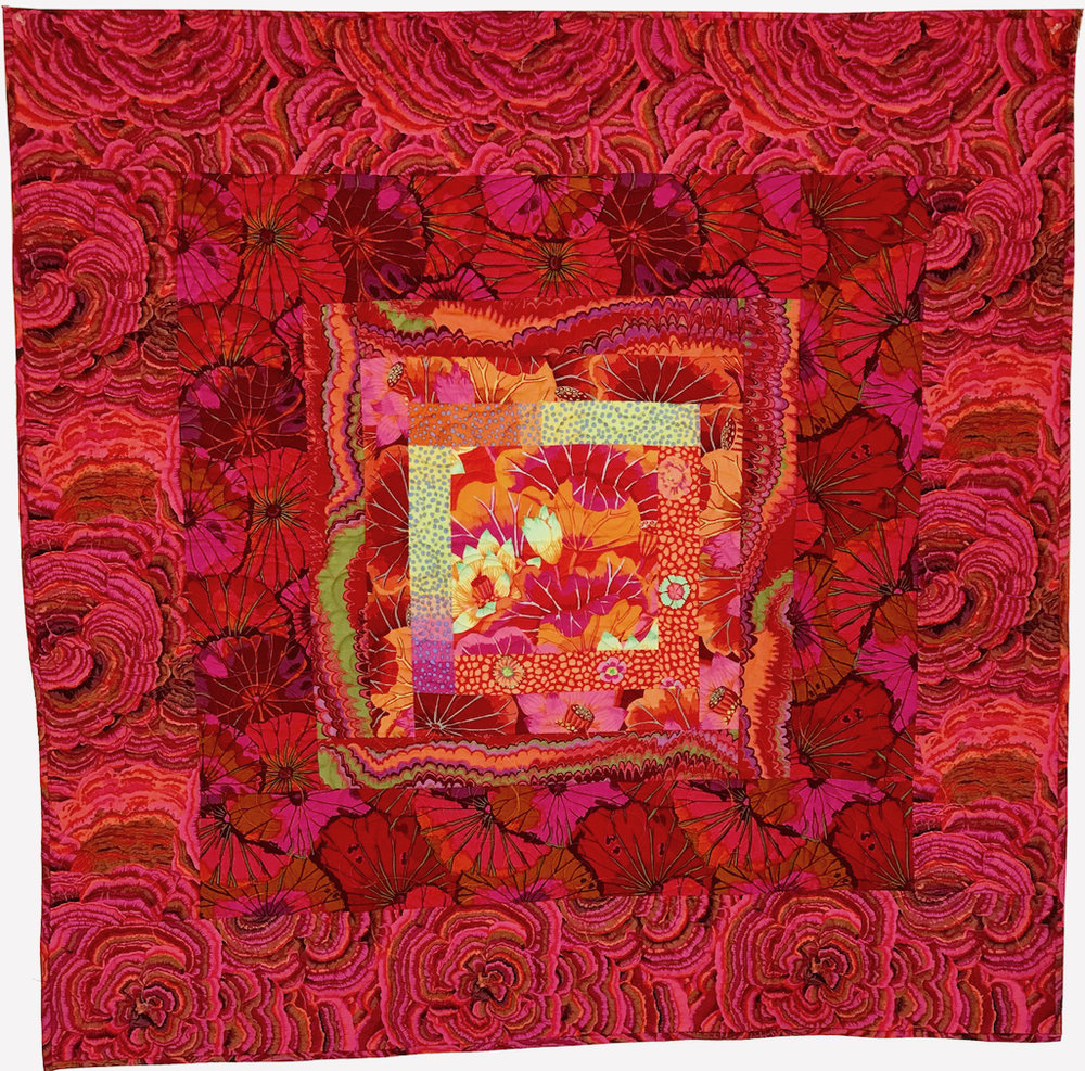 Quilt 2050 Pink Plush with Orange