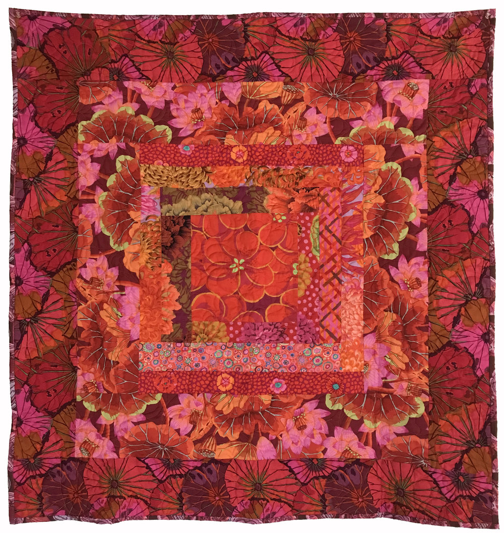 Quilt 2057 Oranges & Pinks With Floral