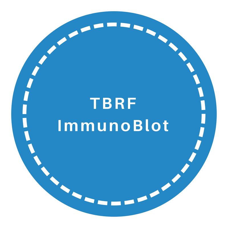 Click Image to Learn More about the TBFR Immunoblots IgM and IgG