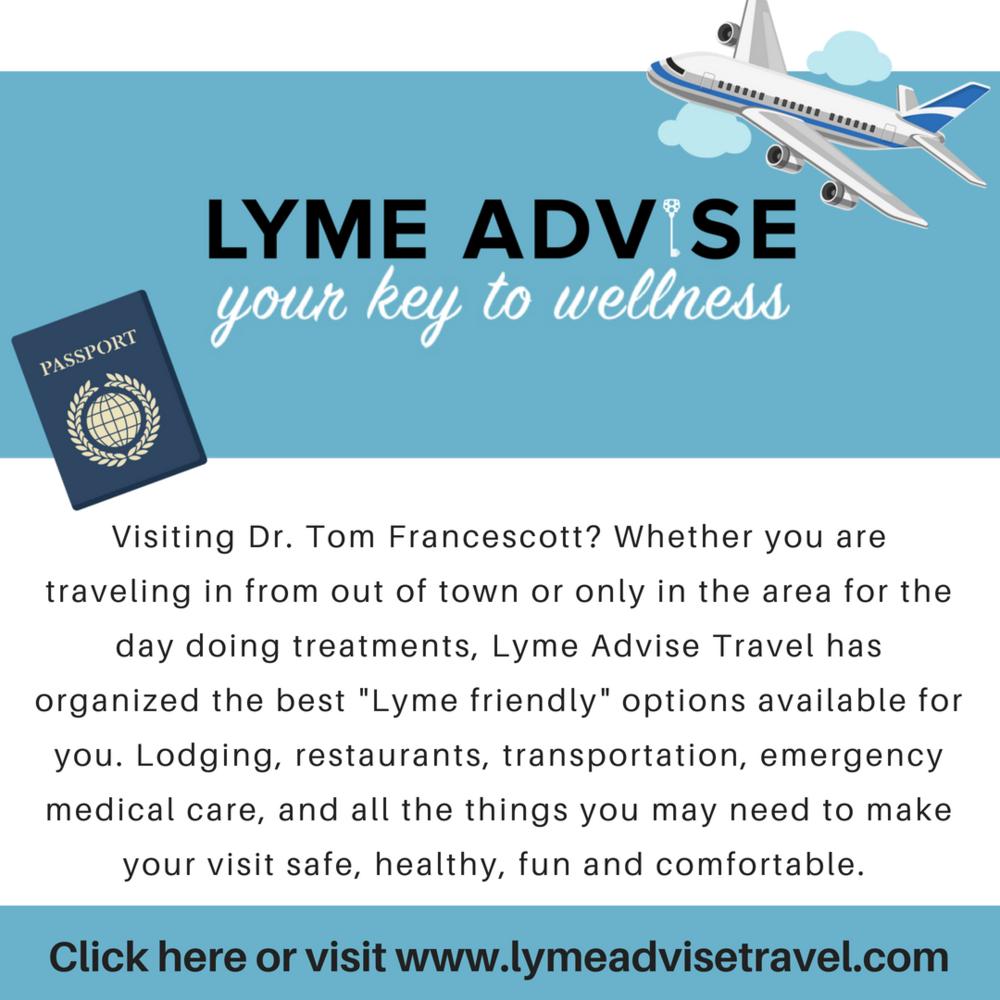 Dr Tom Francescott Lyme Advise Travel Rhinebeck NY