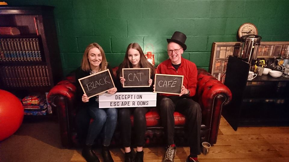 black cat cafe    for a small group they had a big impact on trapped avoiding the snares but not the horrors. But did you set the fastest time?
