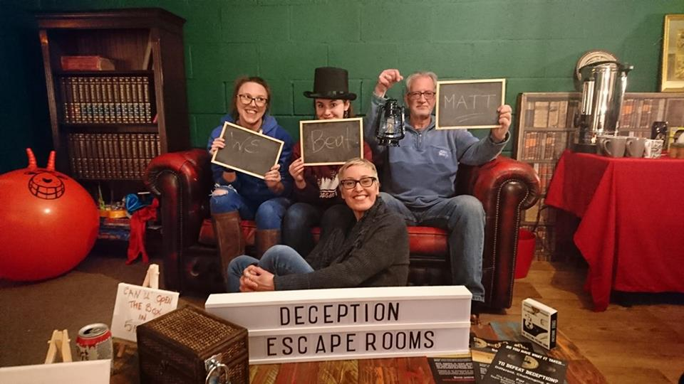 dale opticians    The Dale Opticians team entered trapped with their eyes wide open and with every intention of making a spectacle of themselves! if it got them on the leader board. screams were heard deep within the bowels of trapped as mr a h tide and dr papet, teased and taunted them with their puzzles and horrors. escaping within a Re-spectacle' time.
