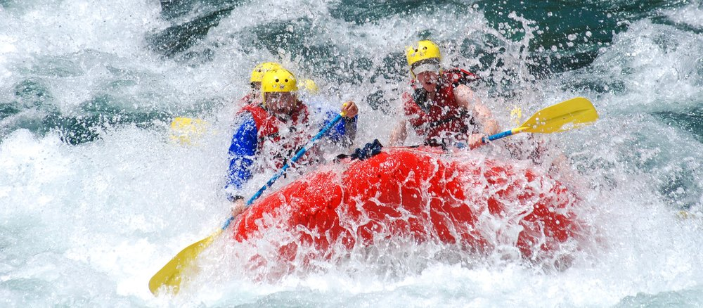 Go white water rafting -