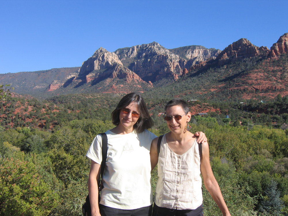 Carol and her middle sister, Peggy, in Sedona, Arizona. Peggy died five months after this photo was taken.
