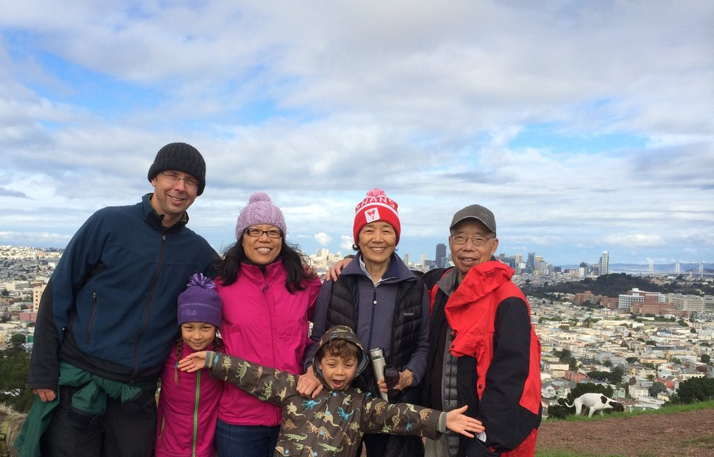 Photo: My family with my in-laws on a hike in San Francisco.