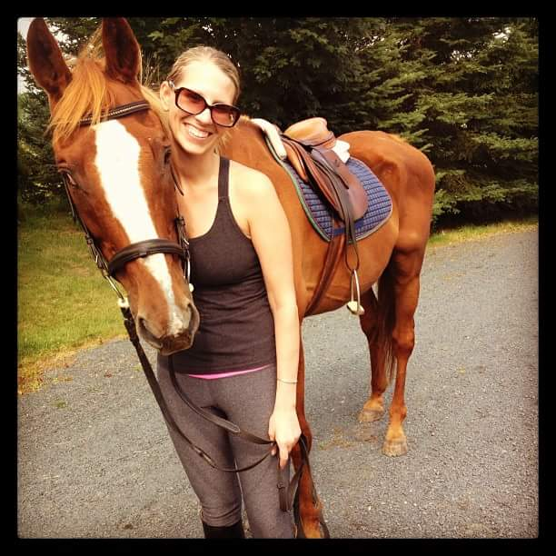 Debra's daughter still loves horses.