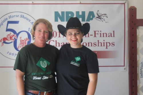 Clare and her Mom after Clare qualified for the Collegiate Semi-Finals in Texas.