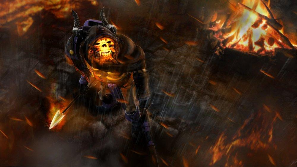 Cloak of the Fallen loading screen for Clinkz - Image: Valve