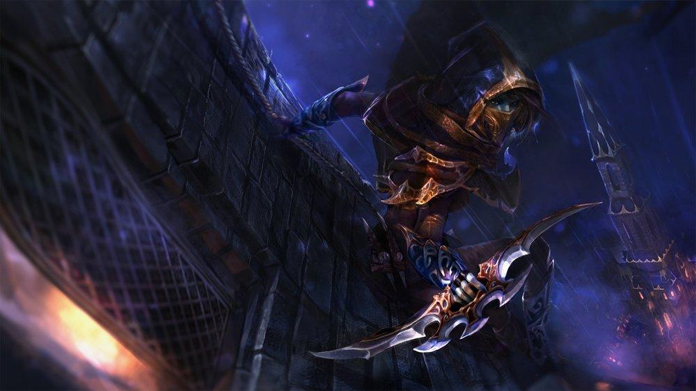 Creeping Shadow loading screen for Phantom Assassin - Image: Valve