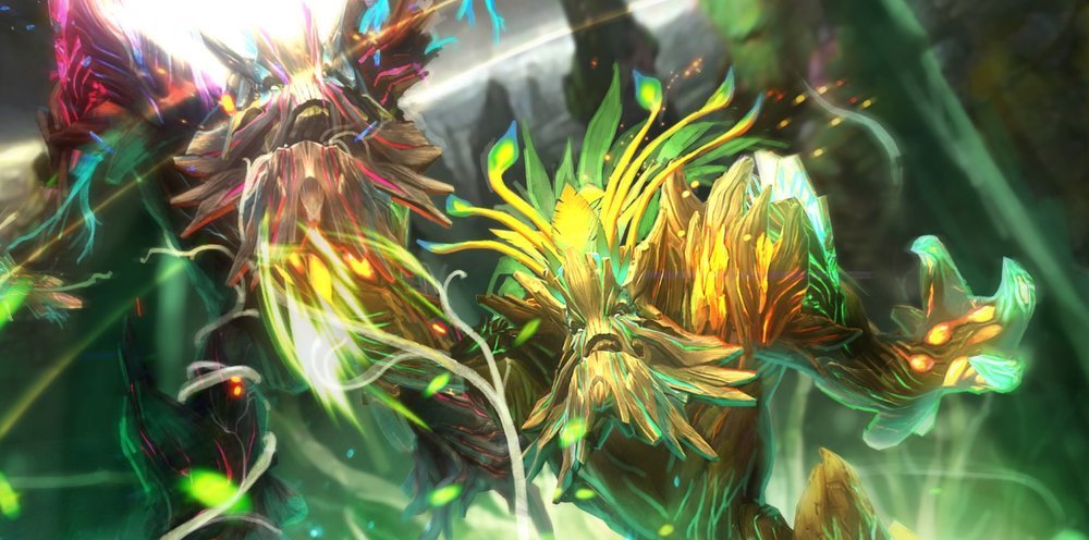 Ageless Witness loading screen for Treant Protector - Image: Valve
