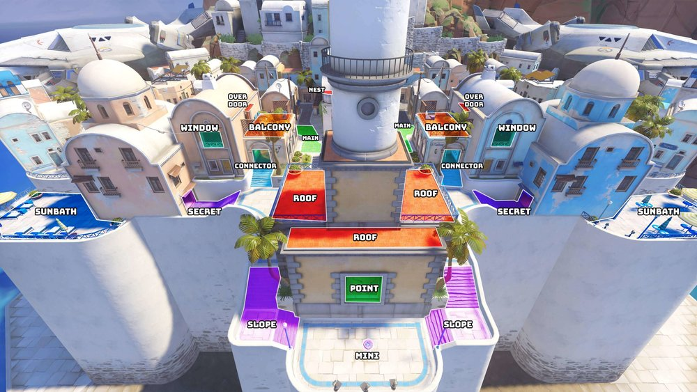 Ilios Lighthouse map callouts one Overwatch