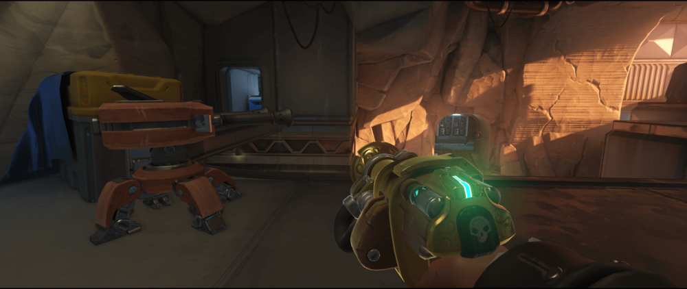 Torbjorn turret Watchpoint Gibraltar first point boxes spot.png