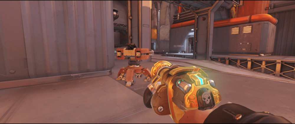 Torbjorn turret Watchpoint Gibraltar third point road spot.png