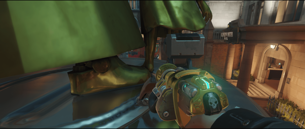 Torbjorn+turret+King's+Row+behind+the+statue+pic+1