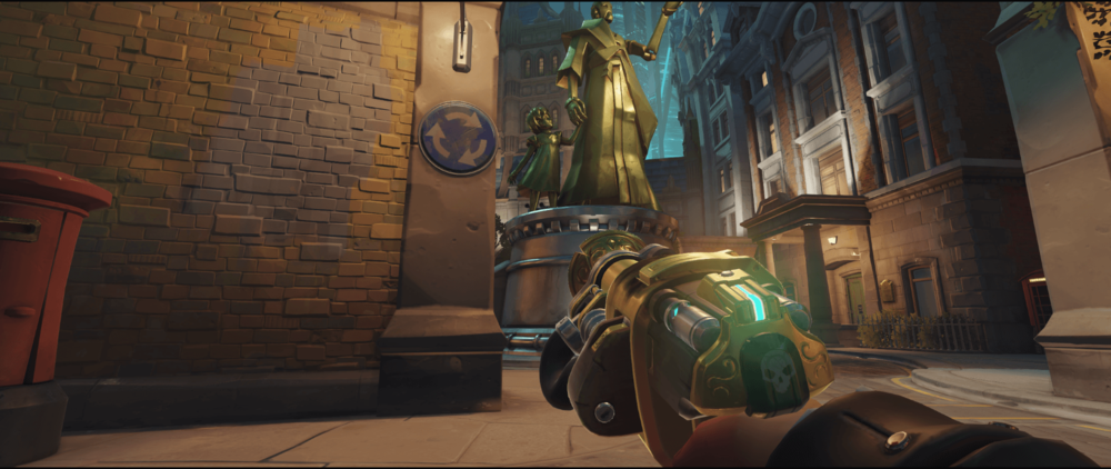 Torbjorn+turret+King's+Row+behind+the+statue+pic+2
