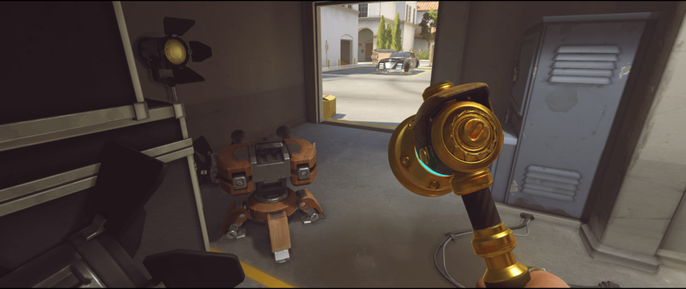 Torbjorn turret spot Hollywood first point Overwatch