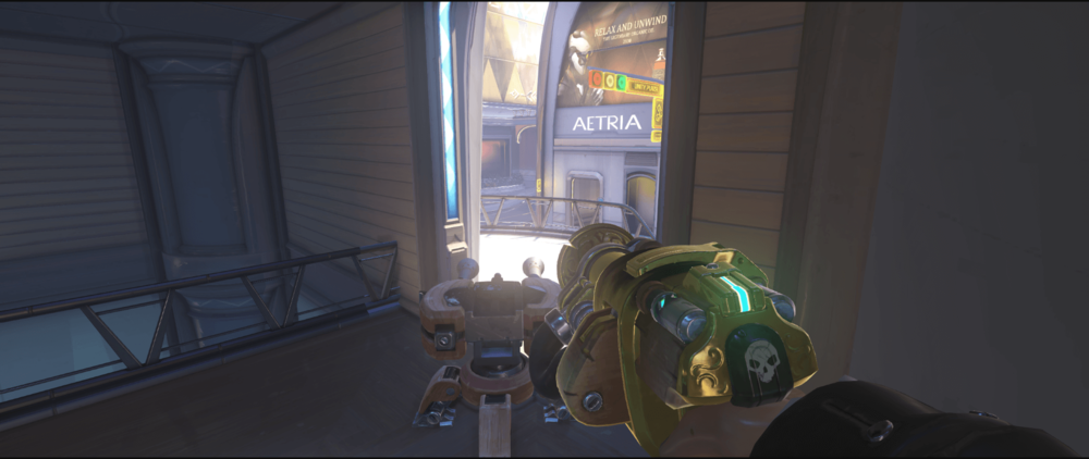 Torbjorn turret Numbani corner location point two.png