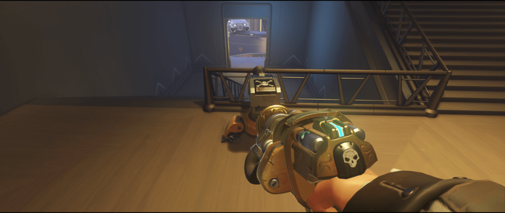 Torbjorn turret Numbani enclosed spot point two.png