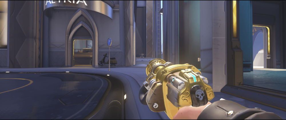 Torbjorn turret Numbani anti-flank spot point two.png