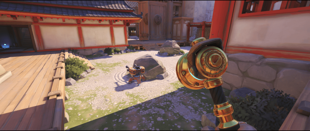 Torbjorn Turret Hanamura behind the rock first point.png