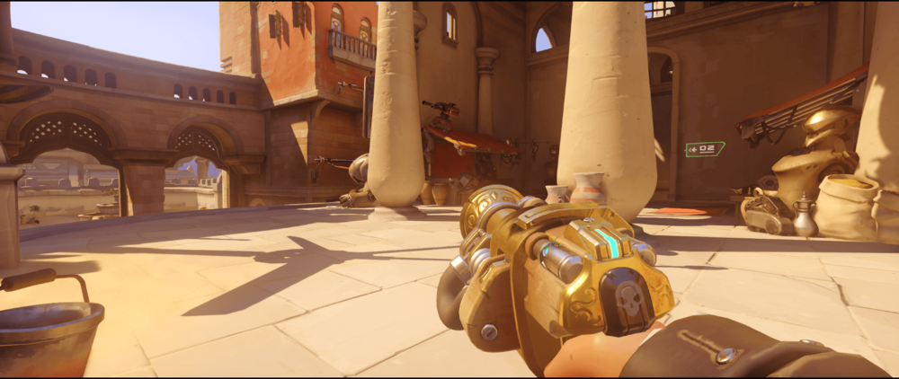 Torbjorn+Turret+Temple+of+Anubis+anti+dive+point+one
