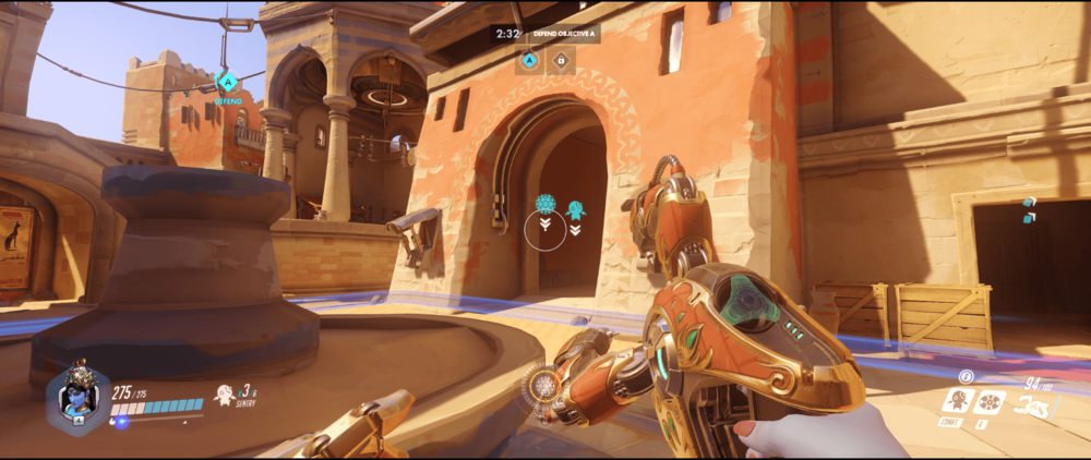 Symmetra shield generator spot Temple of Anubis main point one range.png