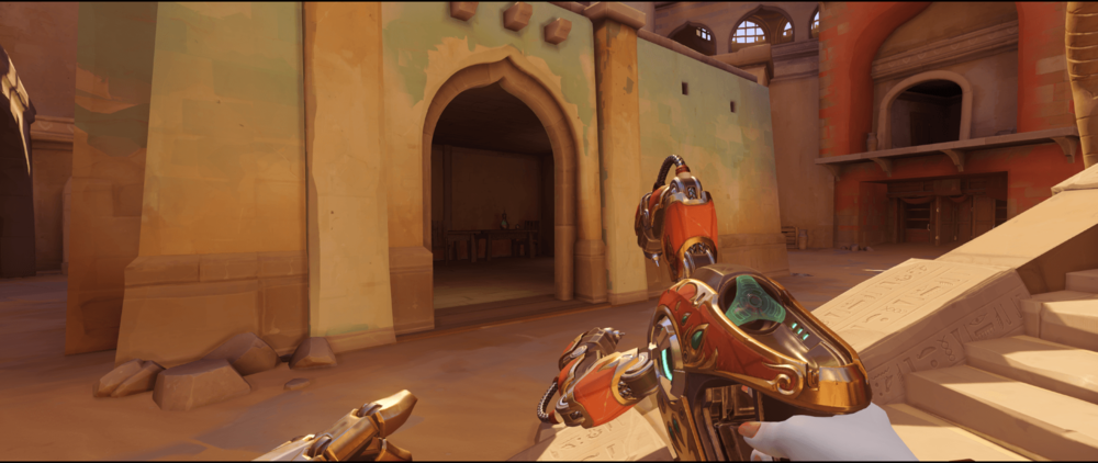Symmetra shield generator spot Temple of Anubis building corner point one.png