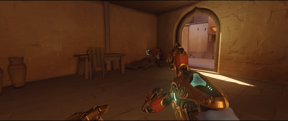 Symmetra shield generator spot Temple of Anubis building corner point one 2.png