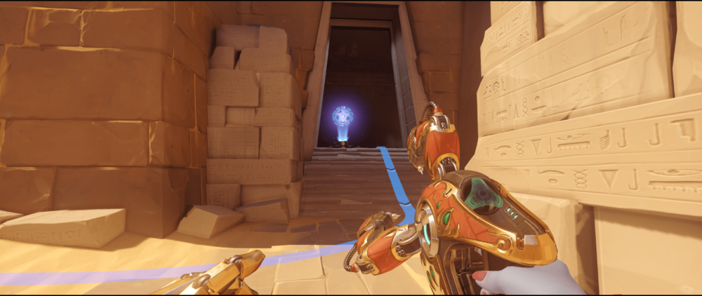 Symmetra shield generator spot Temple of Anubis spawn point two.png