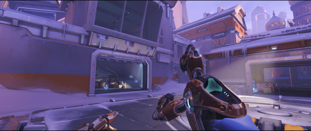 Symmetra shield generator spot Volskaya Industries high ground low rank point one.png