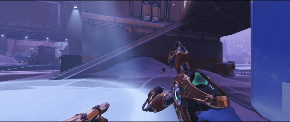Symmetra shield generator spot Volskaya Industries below stairs point one.png