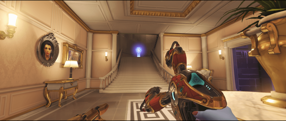 Symmetra shield generator spot Volskaya Industries yellow room point two 2.png