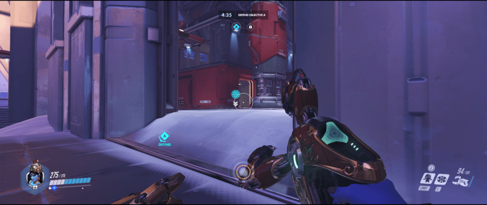 Symmetra shield generator spot Volskaya Industries secondary range point two 2.png