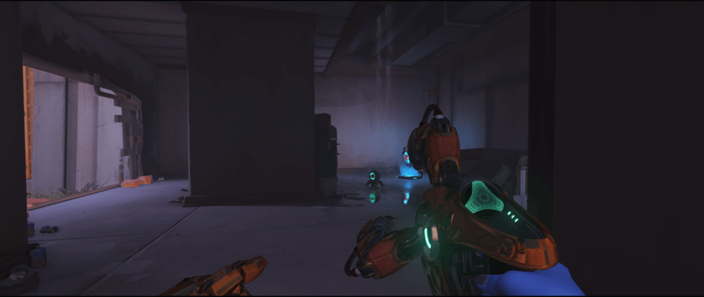 Symmetra shield generator spot Route 66 standard room first point.png