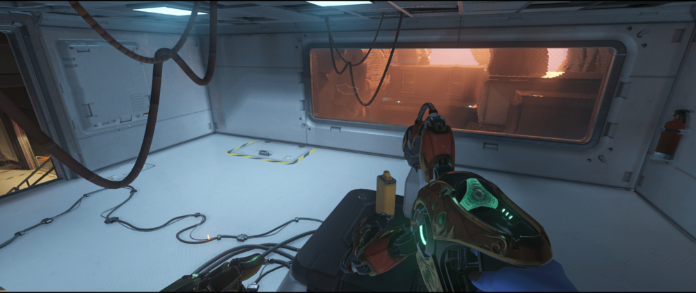Symmetra shield generator spot Watchpoint Gibraltar room first point.png